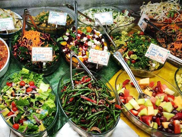 Salads in Display Case