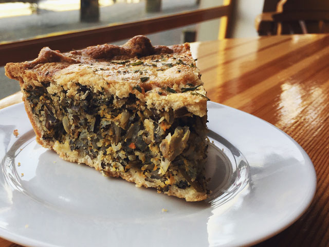 Wild Rice and Spinach Pie